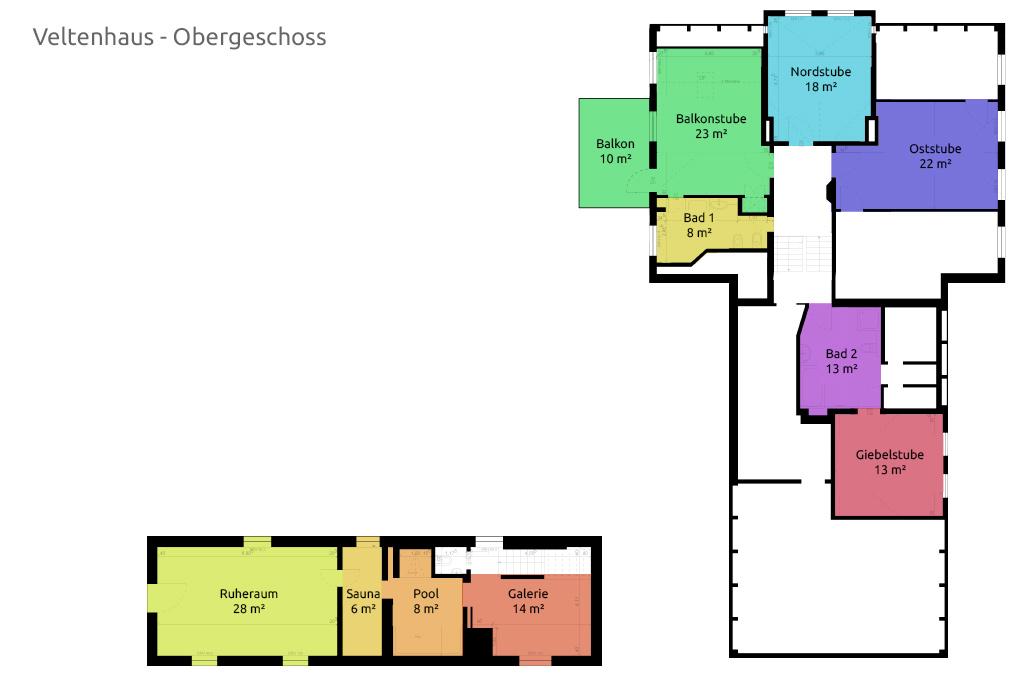 Veltenhaus Obergeschoss